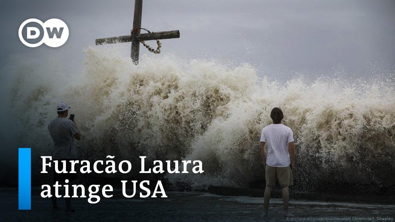 Furacão Laura chega à Louisiana com ventos de 240 km/h