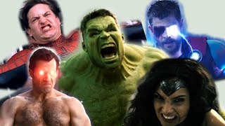 Most Powerful Superhero (Hulk, Superman, Thor, Wonder Woman, Spiderman)