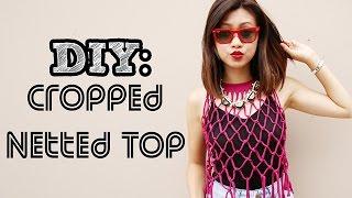 DIY Macrame Crop Top W T Shirt NO SEW