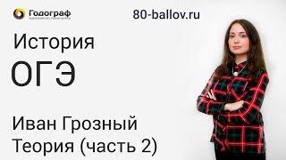 История ОГЭ 2019. Иван Грозный. Теория (часть 2)
