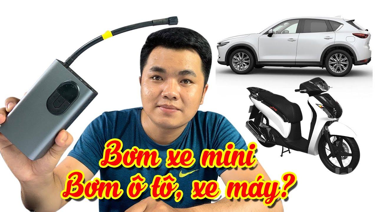 """REVIEW """"Máy bơm mini, bơm xe oto và xe máy"""" có thực sự hiệu quả?   Kien review"""