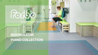 Marmoleum Piano linoleum solid collection Forbo Flooring Systems