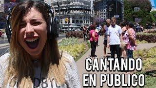 CANTANDO SIN ESCUCHARME EN PUBLICO   Lyna Vlogs