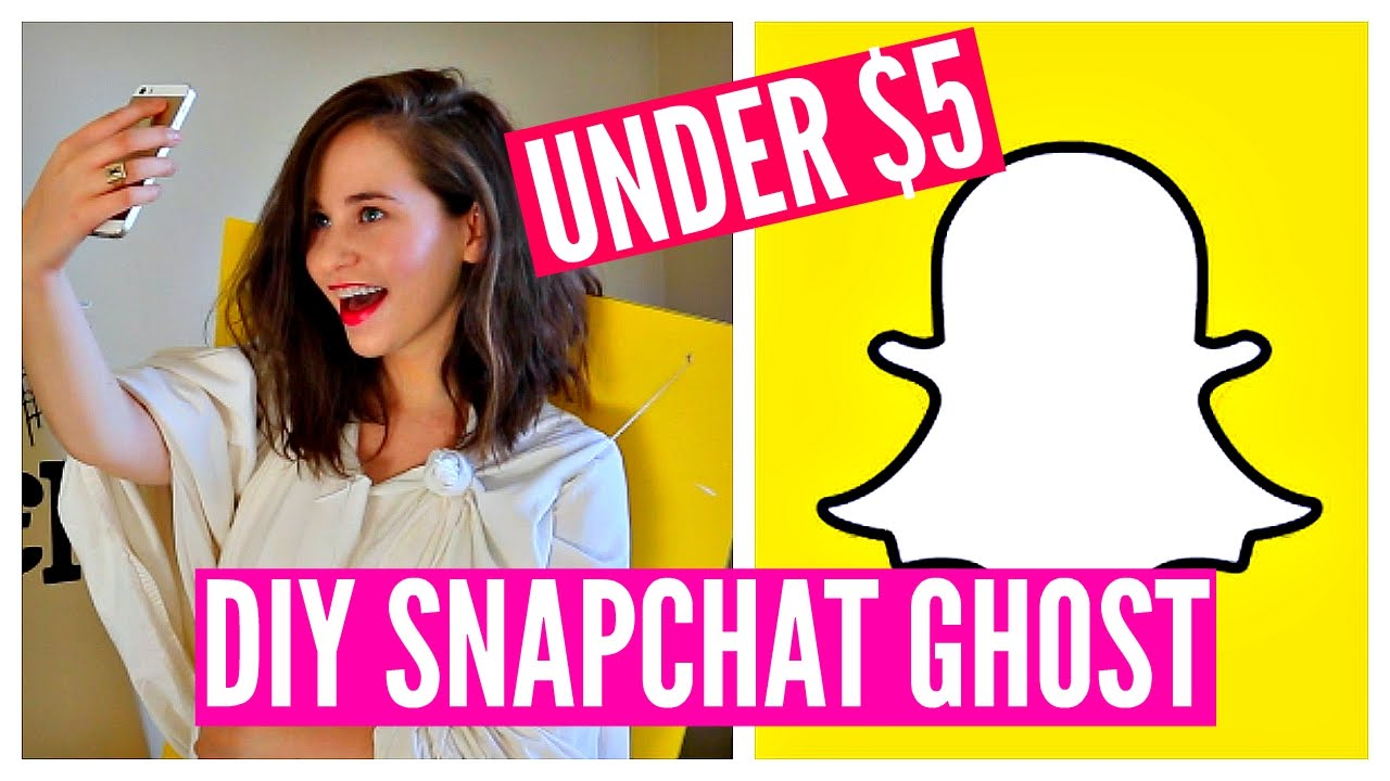 diy halloween costume idea funny cheap easy snapchat ghost youtube - Funniest Diy Halloween Costumes