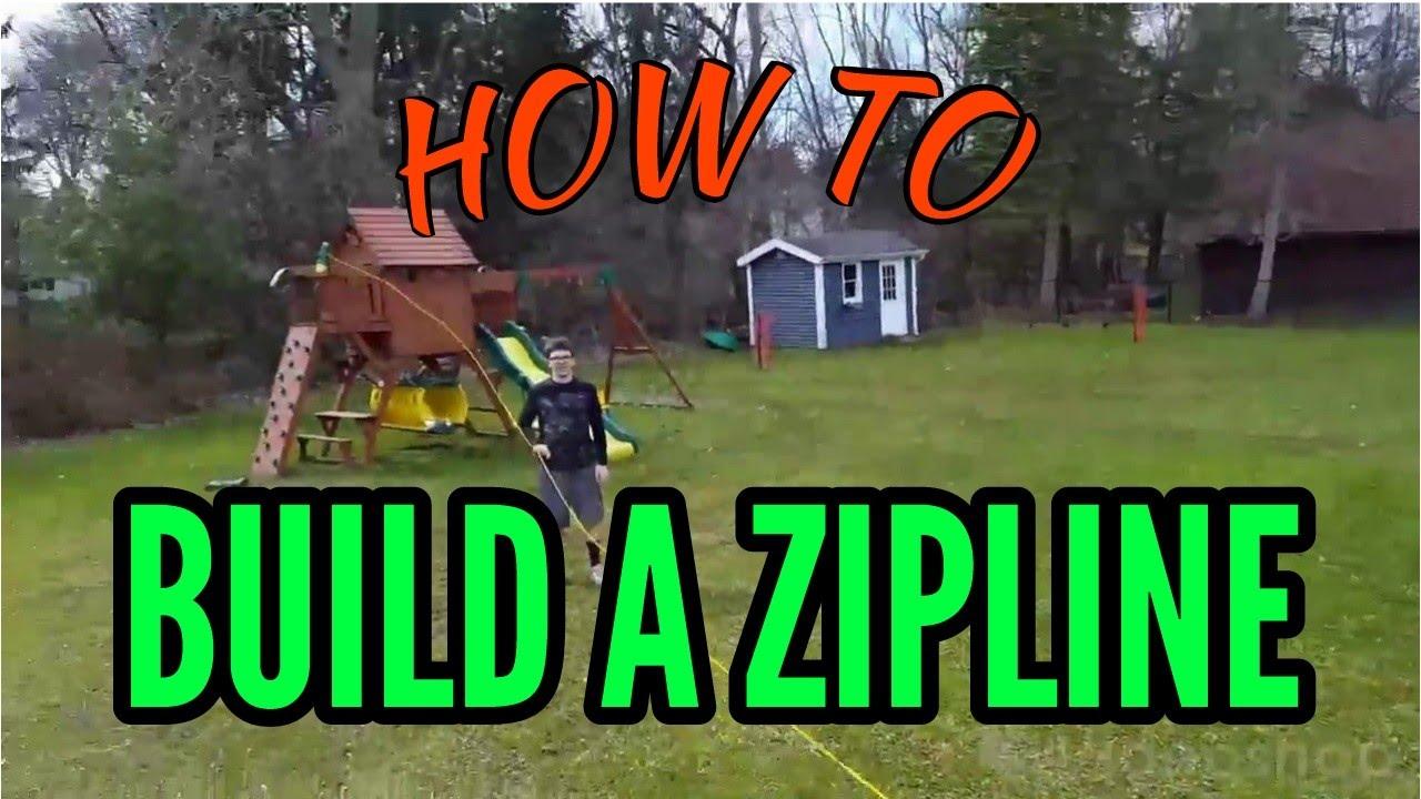 Insane homemade zip line!!