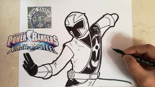 COMO DIBUJAR AL POWER RANGER NINJA STEEL ROJO / how to draw power ranger ninja steel red