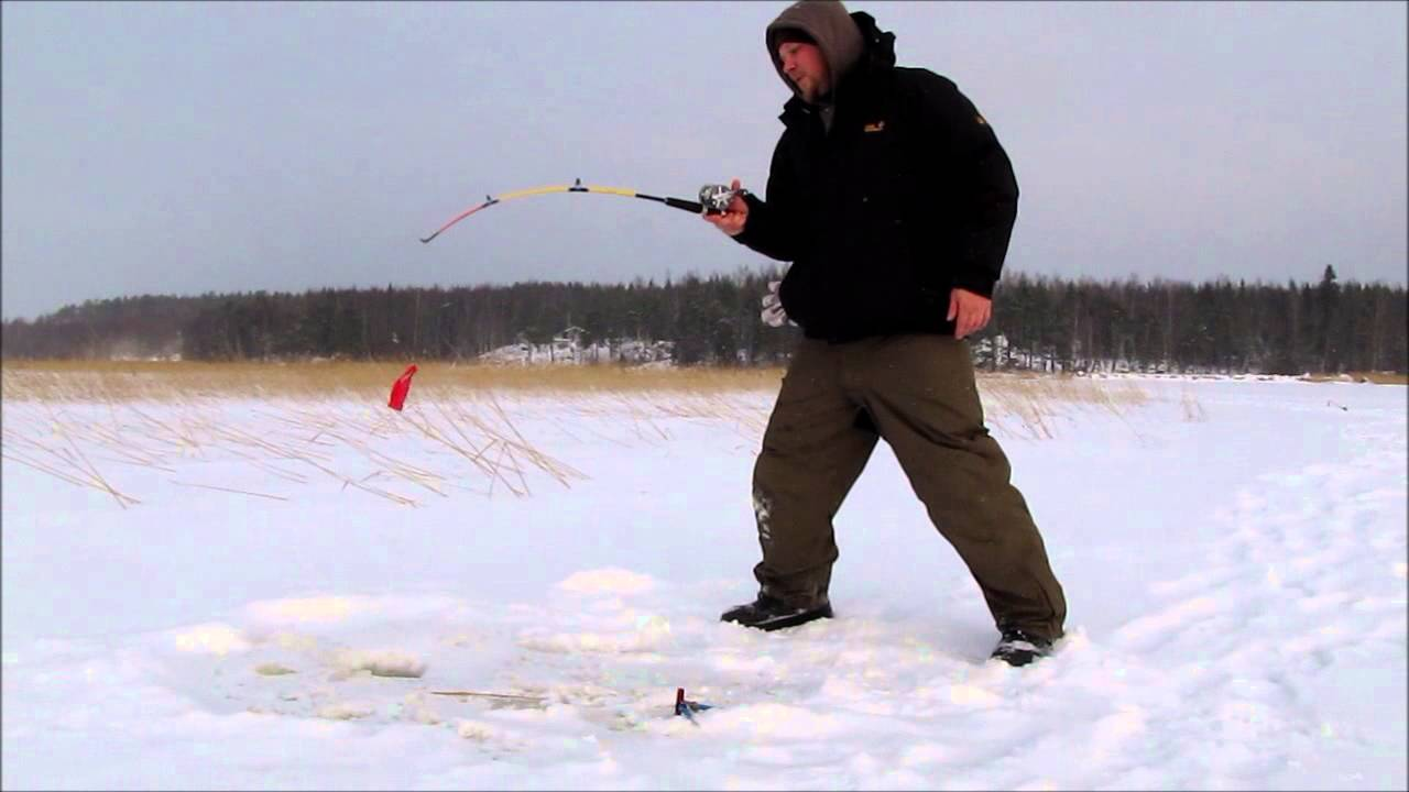 Pike fishing on ice in finland ismete youtube for Ice fishing youtube
