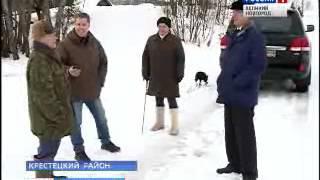 В деревне Курово Крестецкого района наконец-то появился новый мост
