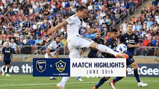 HIGHLIGHTS: San Jose Earthquakes vs. LA Galaxy | June 30, 2018