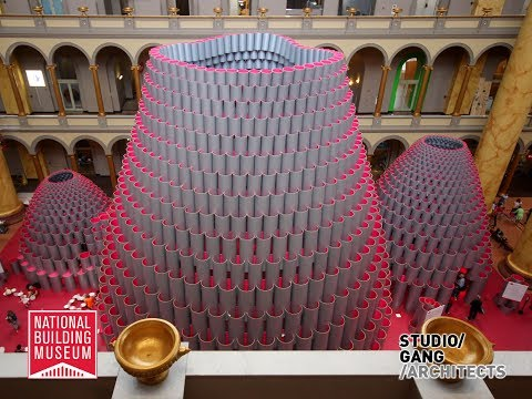 National Building Museum: Hive Construction Time-Lapse