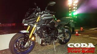 Yamaha MT-10 SP vs city (daily traffic) + Akrapovic exhaust sound - test drive - CMV