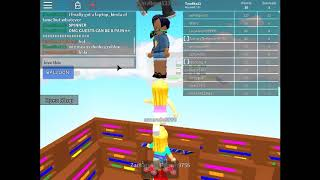 Playing Roblox- The Floor is lava 2
