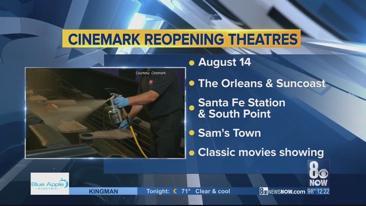 Five Cinemark Las Vegas Movie Theaters Reopening Friday Youtube