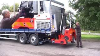 Palfinger F3 KLAPP - Mounting ready for transport