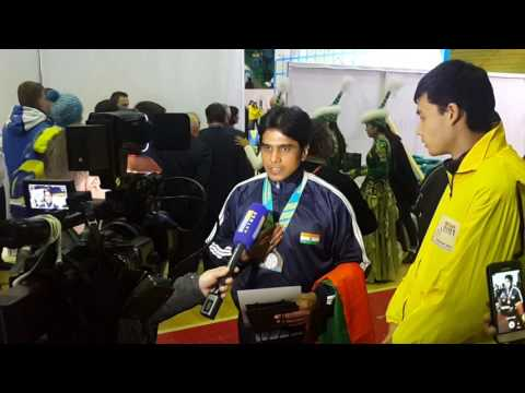 Press Interview in Kazakhstan post winning Bronze medal at World Championships for India