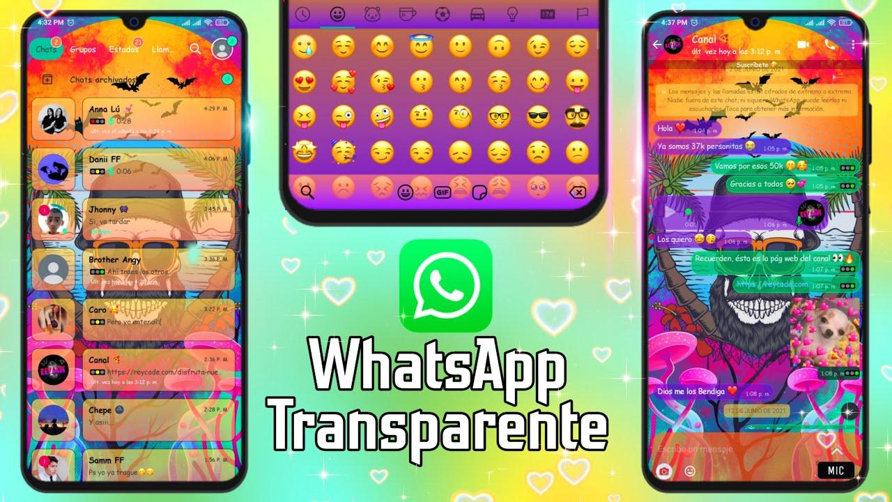WhatsApp Transparente Julio 2021 Actualizado ÚLTIMA VERSIÓN