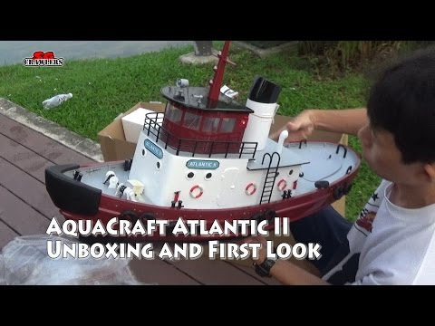 AquaCraft Models Atlantic II Harbor Workhorse Tug boat Unboxing and first look