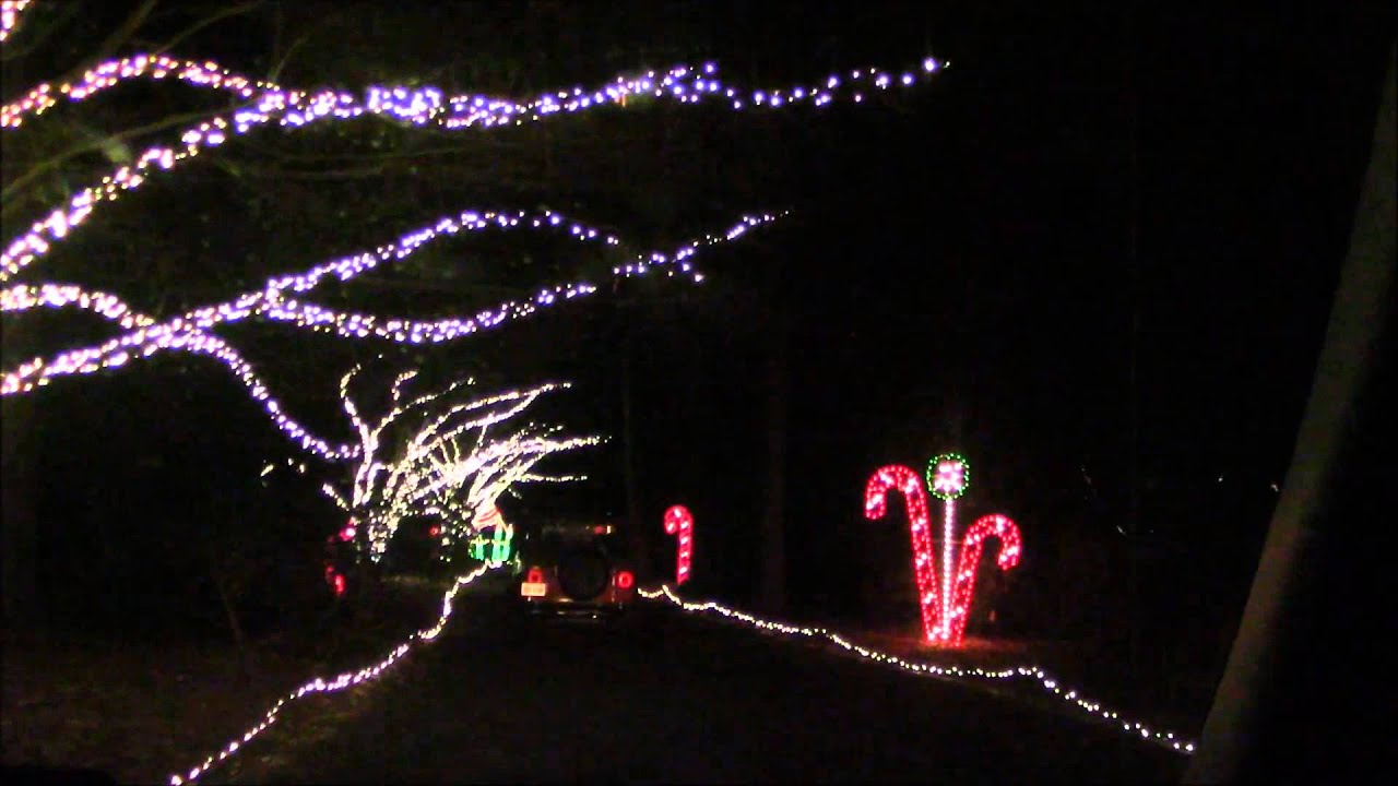 Norfolk Botanical Garden Christmas Lights Part 4 - YouTube
