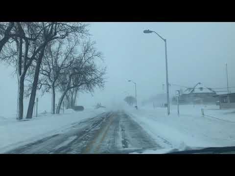 A snowy drive through Grand Haven