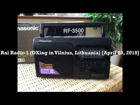 Rai Radio 1 (DXing in Vilnius, Lithuania) [April 23, 2018]