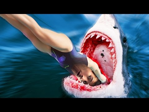 DIVING INTO A SHARK!! | DEPTH #2