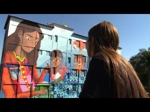 Rio de Janeiro tiene al mural más grande pintado por una mujer