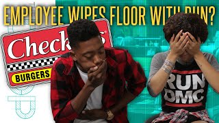 Checkers Employee Busted After Wiping Bun On the Floor - The Drop Presented by ADD