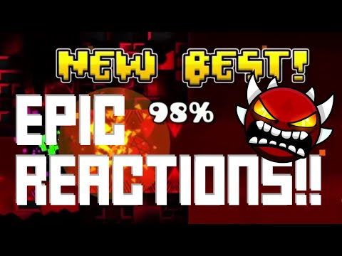 BEST GEOMETRY DASH REACTIONS: EDITED! FAILS, VICTORIES, AND MORE!! | Juniper