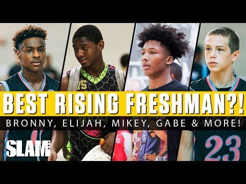 Who's The Best Rising Freshman?! 🤔 Bronny James, Mikey Williams, Elijah Fisher & More!