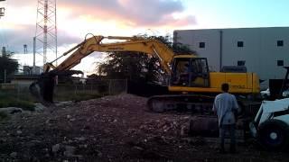 Kid operating heavy equipment