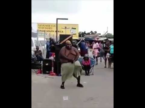 Fat South African Guy Dancing