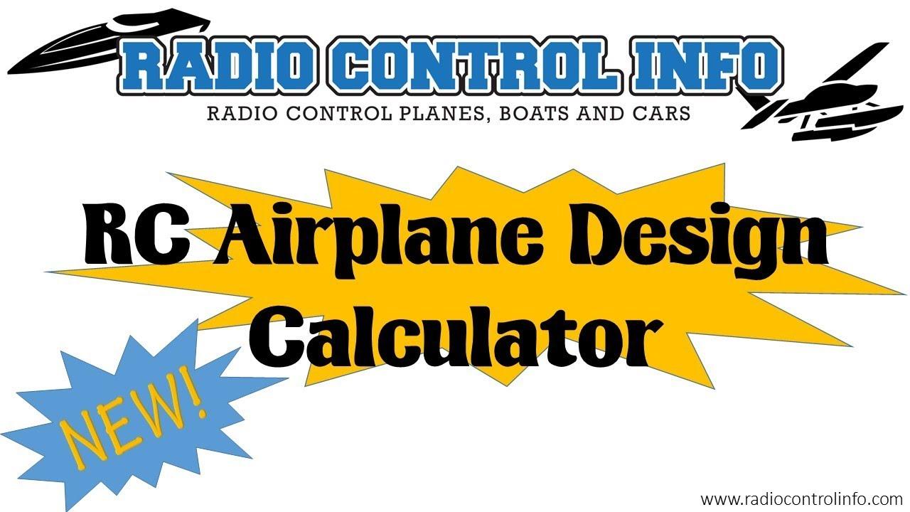 rc airplane foam board design calculator youtube