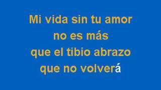 Cristian Castro Mi Vida Sin Tu Amor Karaoke