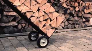 Design Brennholzwagen & Kaminholz Ständer Braendevogn | Firewood Trolley & Firewood Rack Brændevogn