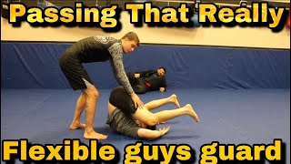 Mind Blowing Guard Pass to Use Against Flexible Guards