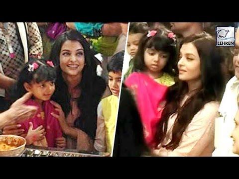 Aishwarya Rai Bachchan & Aaradhya ATTENDS GSB Ganpathi Aarti 2016 | LehrenTV