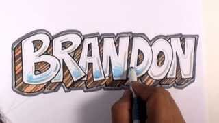 Graffiti Writing Brandon Name Design - #17 in 50 Names Promotion