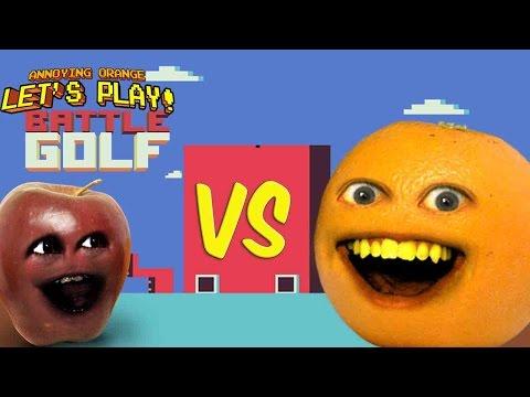 Annoying Orange vs Midget Apple Play - Battle Golf