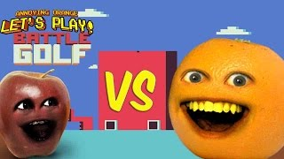 Annoying Orange vs Midget Apple Play - Battle Golf