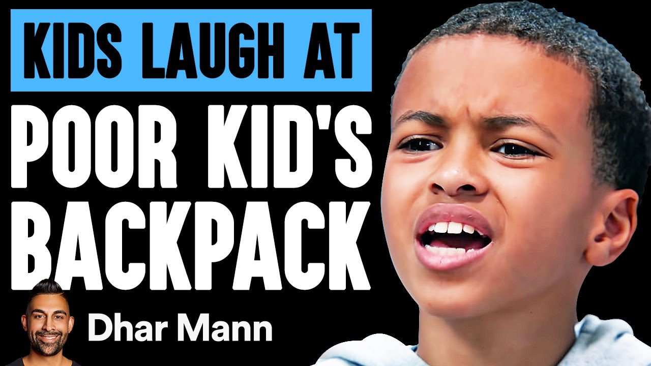 Kids LAUGH AT POOR BOY'S Backpack, They Live To Regret It   Dhar Mann