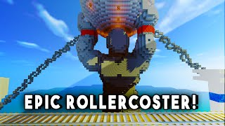 Minecraft Maps - ROLLERCOASTER OF THE GODS! (Rollercoaster With A Story)