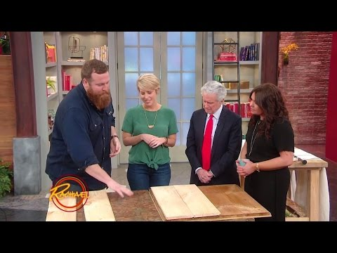 How to Cover Ugly Old Linoleum with Pine