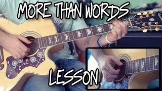 Extreme - More Than Words Guitar Lesson w/TAB