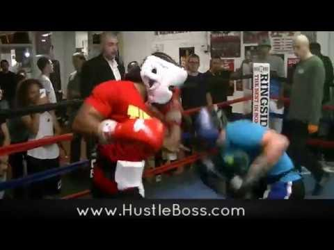 Undefeated Jeremy 'J Flash' Nichols Sparring Taylor Larson At Johnny Tocco's