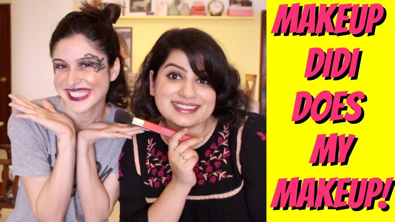 Makeup Didi Does My Makeup!!! ( Feat  Mallika Dua)