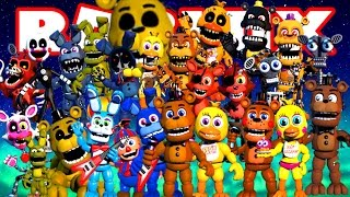 THE ANIMATRONIC WORLD IN ROBLOX!!! - ALL FNAF - Spanish