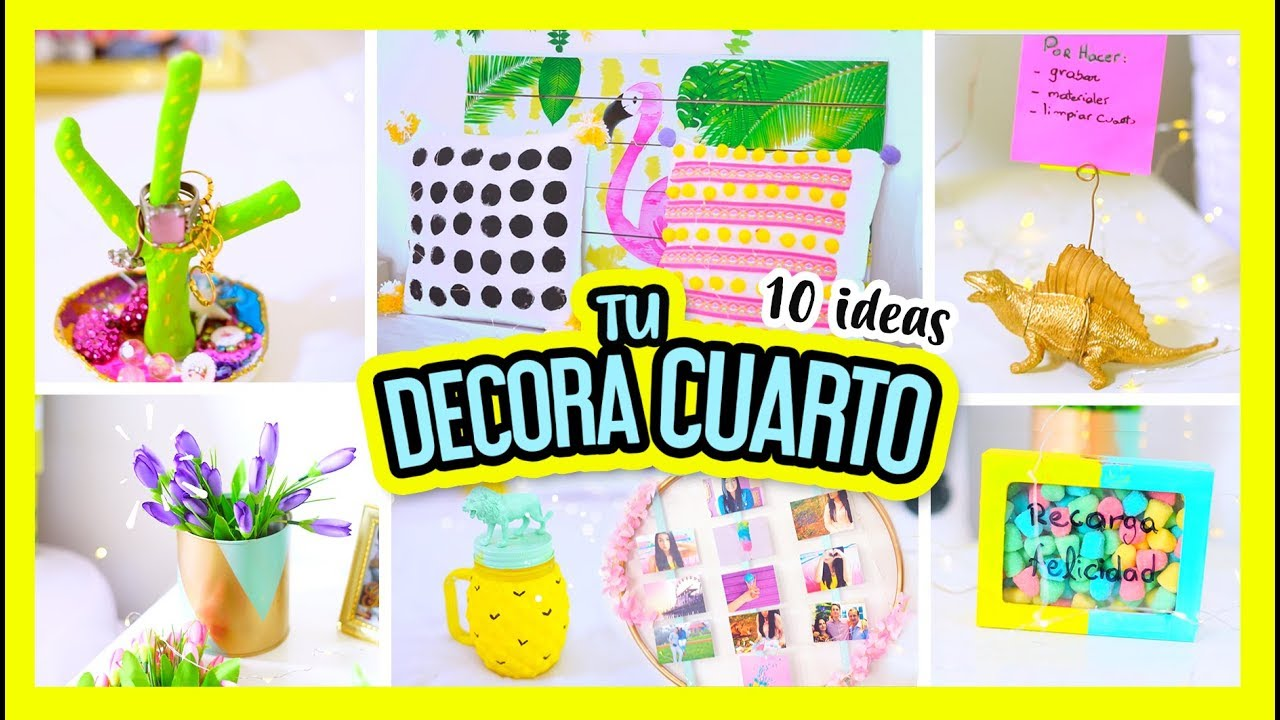 IDEAS para DECORAR tu CUARTO - manualidades fáciles DIY ... on Room Decor Manualidades Para Decorar Tu Cuarto id=69220