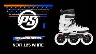 Powerslide Next 125 White skates - Powerslide Speaking Specs