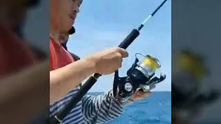 Strike mancing tenggiri besar di laut sadai kep bangka
