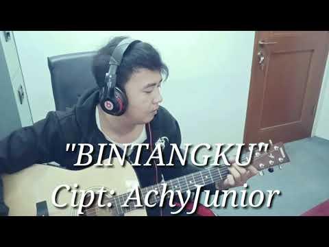 "Live!! ""BINTANGKU"" COVER & LIRIK. MUSIK VIDEO Achy Junior"